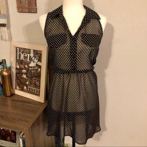 ☀️4/$15 Xhileration Sheer Polka Dot Dress